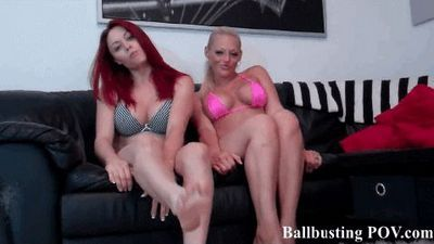 Ball Busting POV full videos